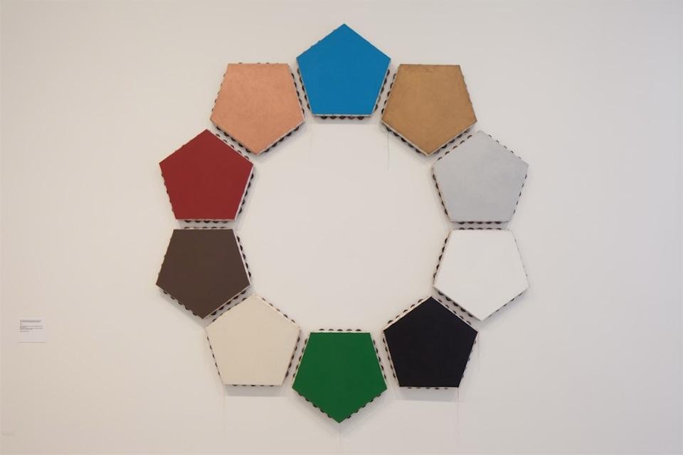 Ten Pentagonal Monochromes (tambourines) 2009